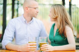 Bill's Beer Garden Engagement Session | Nicole Haley Photography