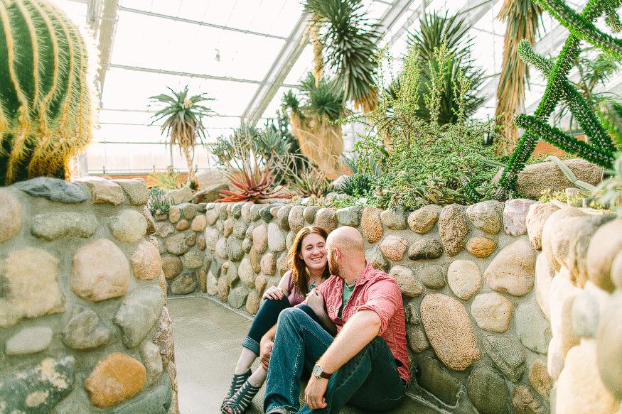 Merveilleux PIN Matthaei Botanical Gardens Engagement Session | Nicole Haley Photography