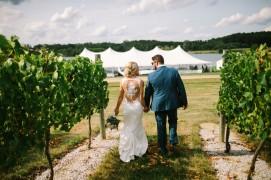 Vineyard Style Wedding in Michigan by Nicole Haley Photography